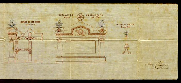 Detall d'un projecte de l'arquitecte Ramon Salas i Ricomà