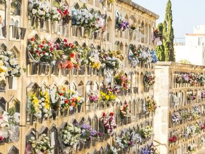 El cementiri de Tarragona, preparat per a la festivitat de Tots Sants