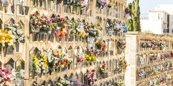 El cementerio de Tarragona, preparado para la festividad de Tots Sants